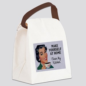 Make Yourself At Home Canvas Lunch Bag