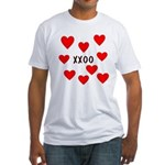 Hugs and Kisses Fitted T-Shirt