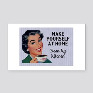 Make Yourself At Home Rectangle Car Magnet