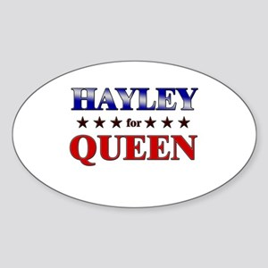HAYLEY for queen Oval Sticker