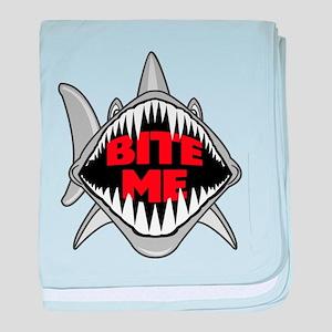Bite Me Shark baby blanket