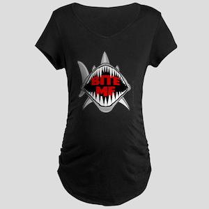 Bite Me Shark Maternity T-Shirt