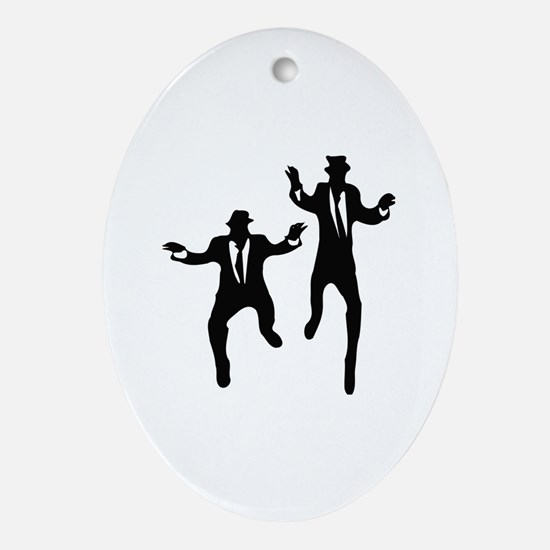 Dancing Brothers Oval Ornament