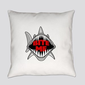 Bite Me Shark Everyday Pillow