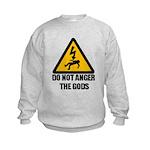 Do Not Anger The Gods Kids Sweatshirt