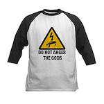 Do Not Anger The Gods Kids Baseball Jersey