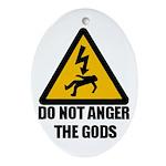 Do Not Anger The Gods Oval Ornament