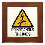 Do Not Anger The Gods Framed Tile