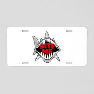 Bite Me Shark Aluminum License Plate