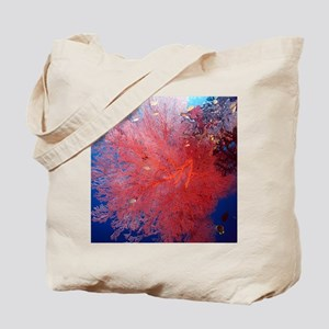 Red Soft Coral Tote Bag