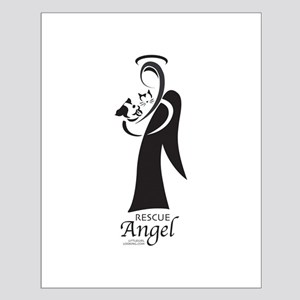 Animal Rescue Angel-Both Dog Small Poster