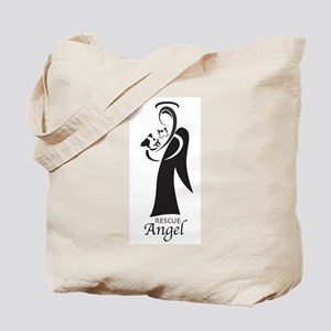 Animal Rescue Angel-Both Dog Tote Bag