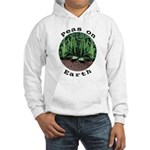 Peas On Earth Hooded Sweatshirt