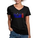 John McCain 08 Women's V-Neck Dark T-Shirt