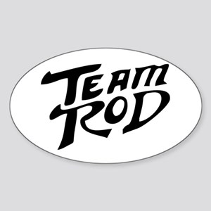 Team Rod Oval Sticker