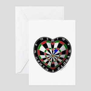 Dart Love 2 Greeting Cards