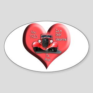 Helaine's GUY Valentine Oval Sticker