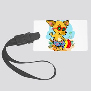Beach Dog Large Luggage Tag