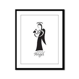 Animal Rescue Angel Framed Panel Print