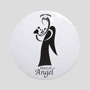 Animal Rescue Angel Ornament (Round)
