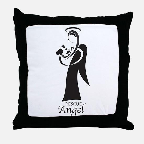 Animal Rescue Angel Throw Pillow