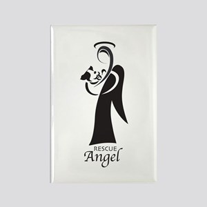 Animal Rescue Angel Rectangle Magnet