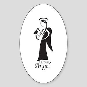 Animal Rescue Angel Oval Sticker