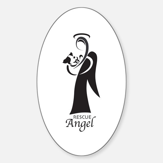 Animal Rescue Angel Oval Decal