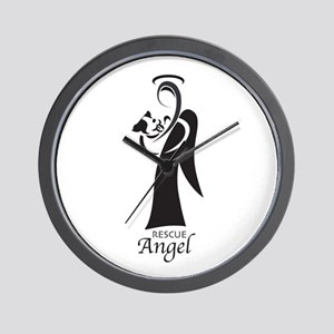 Animal Rescue Angel Wall Clock