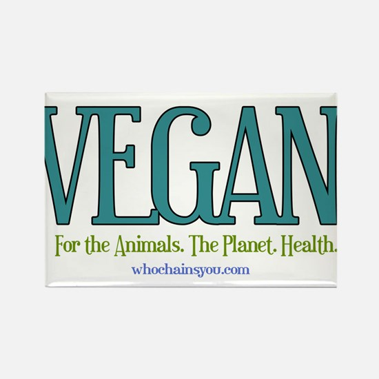 Vegan. For The Animals. Planet. Health. Magnets