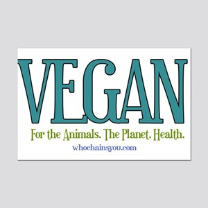 Vegan. For the Animals. The Planet. Health. Poster