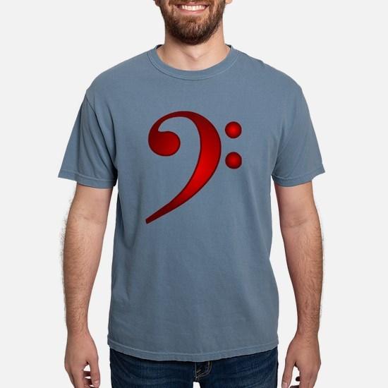 """""""Metallic"""" Red Bass Clef Women's Dark T-Shirt"""
