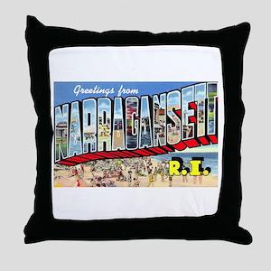 Narragansett Rhode Island Greetings Throw Pillow