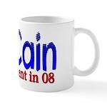 McCain for president in 08 Mug