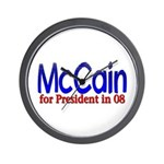 McCain for president in 08 Wall Clock