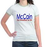 McCain for president in 08 Jr. Ringer T-Shirt