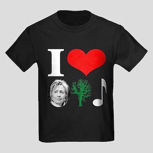 anti Hillary 2008 Kids Dark T-Shirt