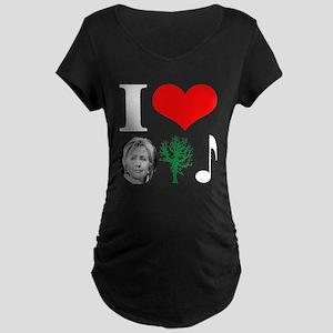anti Hillary 2008 Maternity Dark T-Shirt