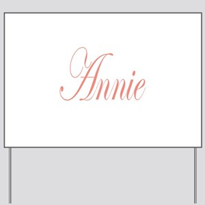 Cursive Annie Yard Sign