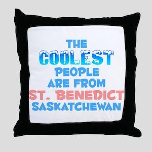 Coolest: St. Benedict, SK Throw Pillow