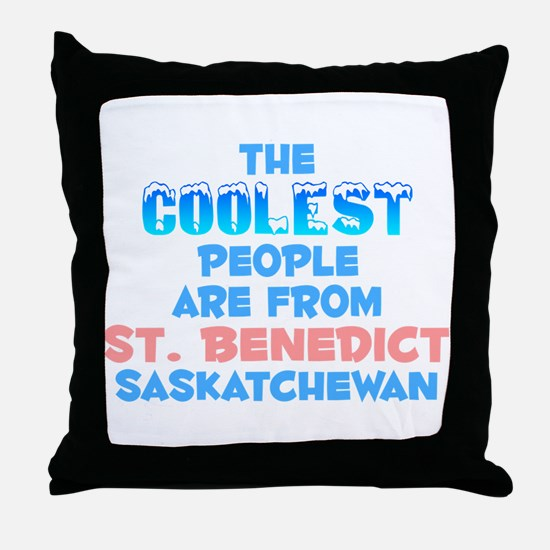 Coolest: St. Benedict, SK Throw Pillow