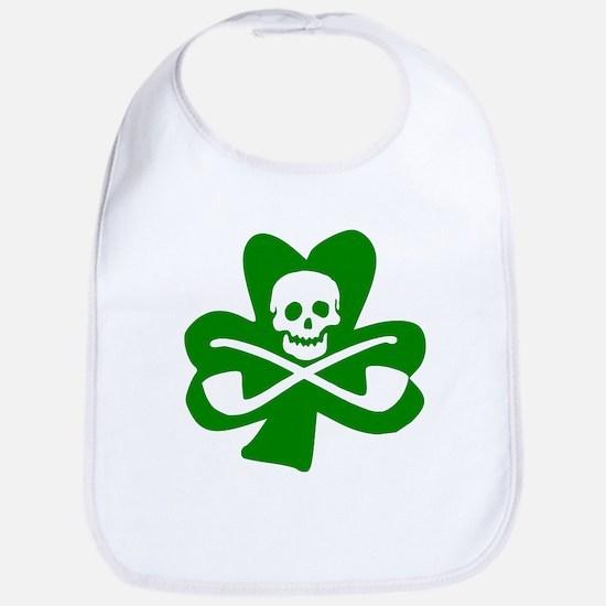 St. Patrick's Day Jolly Roger Bib