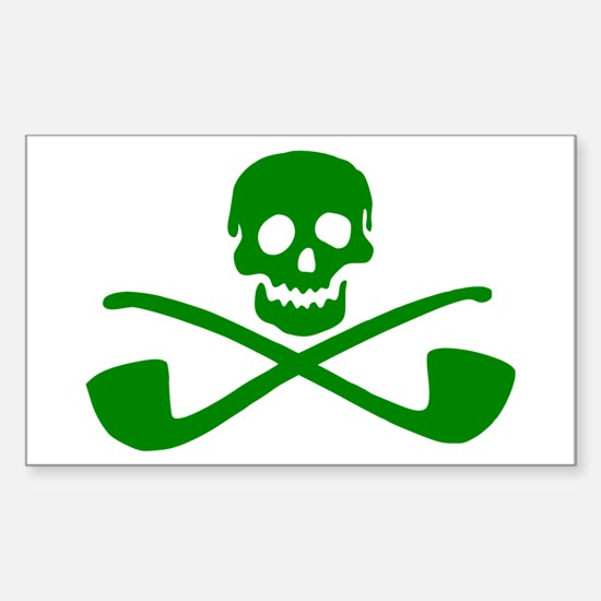Leprechaun Pirate Rectangle Decal