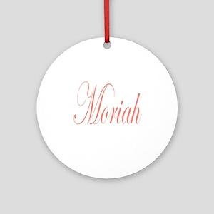 Cursive Moriah Ornament (Round)
