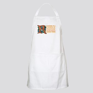 Religion is a Candle BBQ Apron