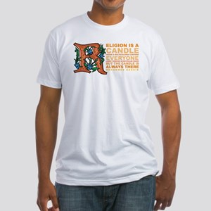 Religion is a Candle Fitted T-Shirt