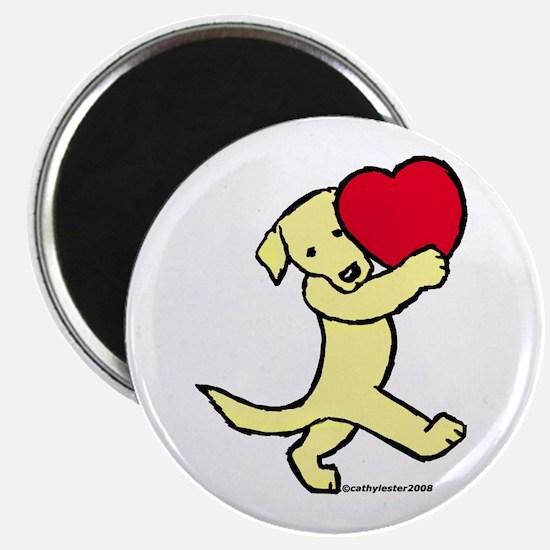 Yellow Labrador Retriever Magnet