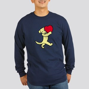 Yellow Labrador Retriever Long Sleeve Dark T-Shirt