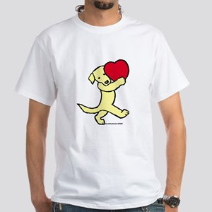 Yellow Labrador Retriever White T-Shirt