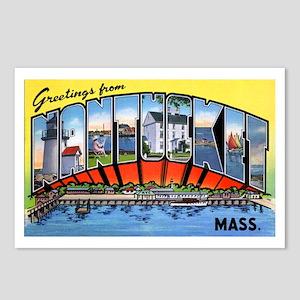 Nantucket Massachusetts Greetings Postcards (Packa